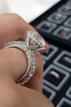 White Gold Engagement Rings To Conquer Your Love ★ See more: https://ohsoperfectproposal.com/white-gold-engagement-rings/ #engagementring #proposal