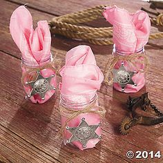 Western Cowgirl Pink Birthday Party Favors by PartyDesignsbyLisa, $9.00