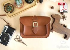 d04552801d Leather Bag Pattern (PDF Files) Satchel Bag Pattern (with how to guide)