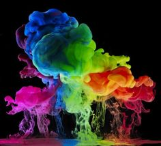 "jedavu: "" Colored Liquids Create Gorgeous Rainbow Explosions In Water by Mark Mawson """