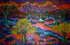 """Magic Forest""  mixed media on canvas"