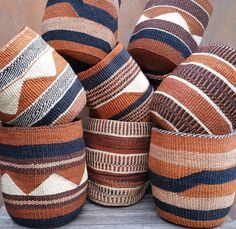 Ideal for organisation around the house, decor, plant pot cover, pantry storage, toy storage adding natural texture and colour to your space. Sisal, Toy Storage, Storage Baskets, Pantry Storage, Basket Weaving, Hand Weaving, Woven Baskets, Crochet Baskets, Wicker Baskets