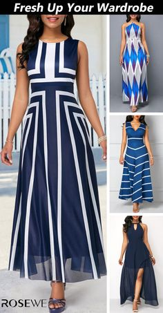 New clothes every day, better service and faster shipping Try it! Business Casual Outfits, Business Dresses, Stylish Dresses, Women's Fashion Dresses, Latest Fashion For Women, Womens Fashion, Fashion Trends, Blue Dresses For Women, African Dress