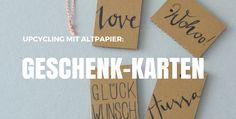 Geschenk-Karten aus Altpapier - felicity DIY-Blog