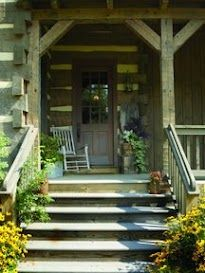 Heavy timber porch, hand hewn in Dandridge, Tennessee