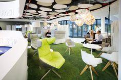 #easyCredit_de #TeamBank #green #Innovative #ActivityBased #officedesign #worklifebalance #lounge Work Life Balance, Office Spaces, Innovation, Lounge, Furniture, Design, Home Decor, Architecture, Projects