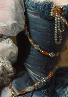 "Detalhe de ""Lady Oxenden"" ~(1755) ~ Pintura de Thomas Hudson."