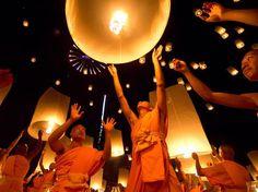 Monks, Thailand.  Photograph by Paramit Supadulchai.