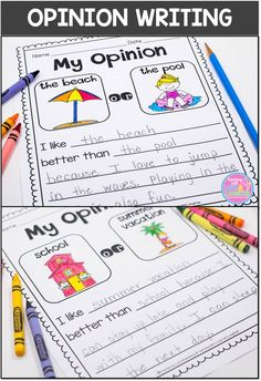 Welcome to Writing Right Through April, May, June, and July! This series contains seasonal and theme related writing activities for each month of the year. All of the activities are differentiated and contain the right amount of support for developing wri Work On Writing, Opinion Writing, Persuasive Writing, Sentence Writing, Essay Writing, Writing Rubrics, Informational Writing, Kids Writing, Writing Lessons