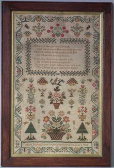 1832 'Sharon's Rose' Sampler by Eliza Nicholls #19638   Madelena