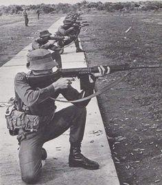 SADF firerange while using R1 rifles.