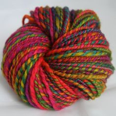 Mumbai - hand dyed and hand spun yarn. Some day I will be able to dye and spin, too.
