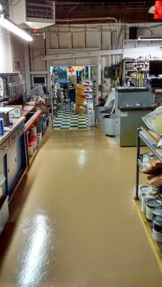 An after picture of our floor painting project