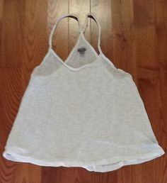AERIE WHITE SLEEP TANK TOP SIZE XSMALL #AERIE #Sleepshirt #Everyday
