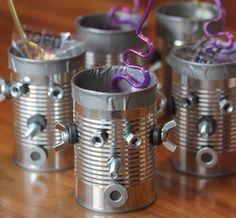 Robotics: tin can robot craft idea 2