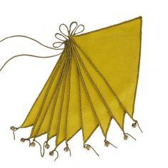 Flags garland - sunflower yellow Numero 74