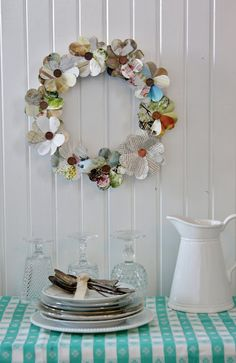 Flower Patch Farmgirl: Craft Time with wreath courtesy of Layla and Kevin of The Lettered Cottage