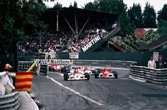Start of XLV Grand Prix Automobile de Pau 1985 - Emanuele Pirro (ITA) Onyx March 85B Cosworth DFV finished the race in second position. European Formula 3000 Championship Rd 5, Pau, France, 27 May 1985 - © Sutton Motorsport Images
