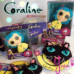 Coraline felt dolls and keyrings  Birthday presents  Instagram: @yeehawvene