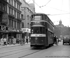 c.1956 - Boar Lane, Leeds. Old Pictures, Old Photos, Leeds City, Yorkshire England, My Town, Back In Time, Britain, Past, Street View