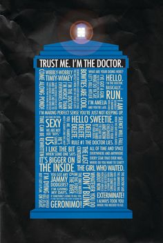 T.A.R.D.I.S. Typography Art. I can't help it. I must pin every Doctor Who related item I see.