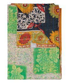 Love this Vintage Handmade Kantha Throw #2225 on #zulily! #zulilyfinds