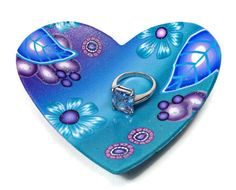 Heart Jewelry Dish- Wedding Ring Holder- Wedding Favor- Personalized Ring Dish- Engagement Ring Dish - pinned by pin4etsy.com