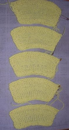 comparing methods for increasing a lot of stitches as unobtrusively as possible, by the Feral Knitter