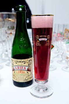 Cherry Beer! I'm trying this now for the first time. Delish! P.S. I want this glass.