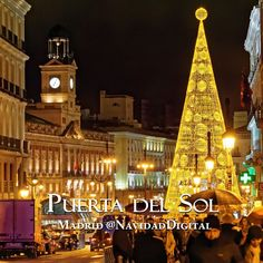 La Puerta del Sol de Madrid esta Navidad 2014   Madrid Sol Christmas tree