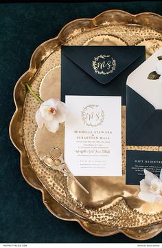 This utterly elegant stationery, ornamented with glamorous gold typography, is perfectly suited to a black tie affair. Chalkboard Typography, Typography Prints, Hand Lettering, Wedding Stationery Inspiration, Wedding Inspiration, Elite Hotels, Black Tie Affair, Stationery Design, Dream Wedding