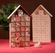 wood advent calendar house - Google Search
