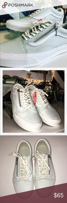 Vans Old Skool Zip Leather Sneakers. Vans Old Skool Zip Leather Sneakers. New without box. Unisex Women's 8.5, Men's 7. Vans Shoes Sneakers