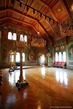 Saal Schloss Neuschwanstein   Nostalgic Oldtimerreisen Neuschwanstein Castle, Ludwig, Bavaria Germany, Tudor, Alps, Palace, Paradise, Europe, Tours