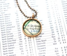 Subway series necklaces to benefit survivors of hurricane Sandy http://ecokaren.etsy.com