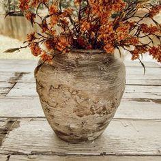 Easy DIY Faux Earthenware Vessel Diy Faux Rocks, Brick Veneer Panels, Old Vases, Large Vases, Rock Planters, Faux Marble Countertop, Cheap Vases, Faux Brick Walls, Painted Mason Jars