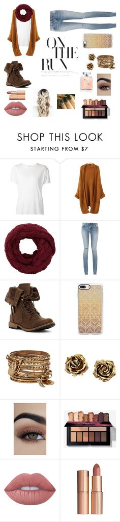 """winter boots"" by dopedogs ❤ liked on Polyvore featuring R13, Yves Saint Laurent, Casetify, ALDO, Tiffany & Co., Lime Crime and Charlotte Tilbury"