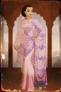 Noor Inayat Khan ~ by GypsyMoth ~ created using the Sari doll maker | DollDivine.com