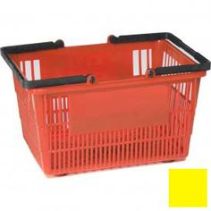 Plastic Shopping Basket with Plastic Handle, Tall, 16