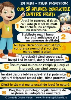 24 MAI-ZIUA FRATILOR 4 Kids, My Children, 24 Mai, Kindergarten Crafts, Positive Discipline, Emotional Intelligence, Kids Education, Classroom Management, Toddler Activities