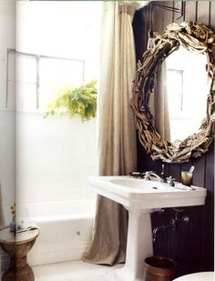 the driftwood mirror!