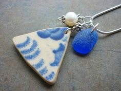 Your place to buy and sell all things handmade Sea Glass Beach, Sea Glass Art, Sea Glass Necklace, Sea Glass Jewelry, Sea Glass Crafts, Penny Rugs, Pottery Ideas, Pin Cushions, Driftwood