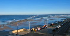 The view  from  Redcar Coastwatch Lookout showing the Scars