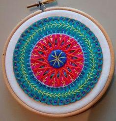 Resultado de imagem para mandala felt embroidery