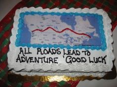 Map cake for going away party
