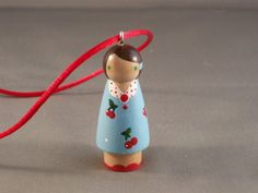 peg doll necklace