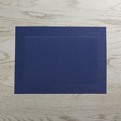 Navy Easy Care Placemat   Crate and Barrel