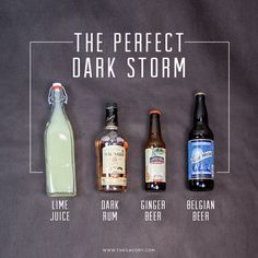 The Dark 'n' Stormy is a cocktail with a history that appears to be rooted in the British Royal Navy. The Navy rationed out two ounces of its thick dark rum to its sailors, and it is thought that they took to mixing it with the juice of ginger root as a means of making the rum more palatable.