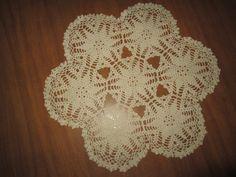 "13.5"" Round Crocheted Off White Doily, Round Off White Doily, 13.5"" Round Centerpiece Doily, Round Furniture Doily, Off White Round Doily by SuzannesStitches on Etsy"