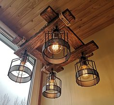 Rustic Light Fixture Hanging Light Rustic Lighting   Etsy Garage Light Fixtures, Rustic Light Fixtures, Hanging Light Fixtures, Pendant Light Fixtures, Hanging Lights, Wood Pendant Light, Industrial Pendant Lights, Rustic Chandelier, Dining Chandelier